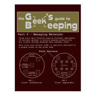 Geek Beekeeping (Networks) - Postcard