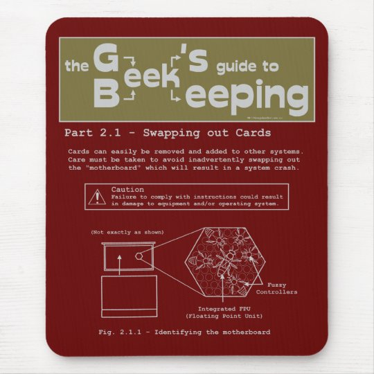 Geek Beekeeping (Swapping Cards) - Mousepad
