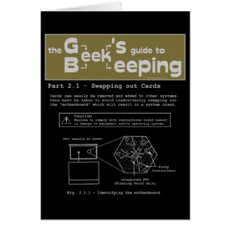Geek Beekeeping (Swapping Cards) - Note Card