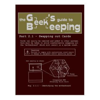 Geek Beekeeping (Swapping Cards) - Postcard