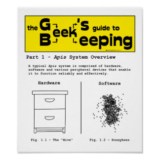 Geek Beekeeping (System Overview) - 12 x 14 Poster
