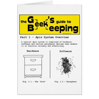 Geek Beekeeping (System Overview) - Greeting Card