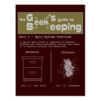 Geek Beekeeping (System Overview) - Postcard