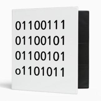 geek binary binder