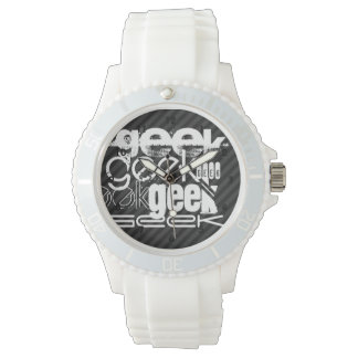 Geek; Black & Dark Gray Stripes Wristwatch