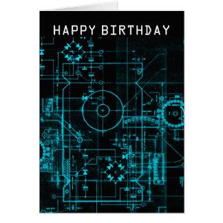 Geek Blueprint Birthday Card