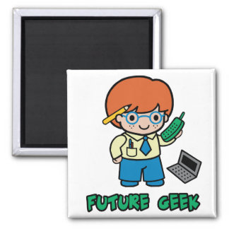 Geek (boy) 2 inch square magnet