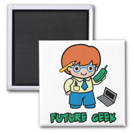 Geek (boy) 2 inch square magnet