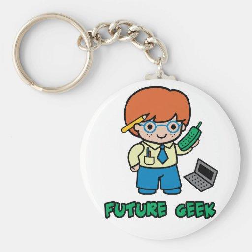 Geek (boy) key chains