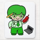 Geek Boy Mouse Pad