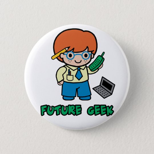 Geek (boy) pinback button