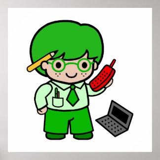 Geek Boy Print