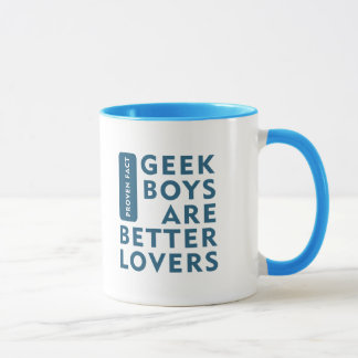 Geek boys are better lovers mug
