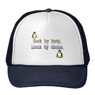 Geek by birth. Linux by choice. Trucker Hat