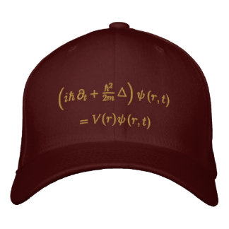 Geek: Cap, Schrodinger equation, Sisal Embroidered Hats