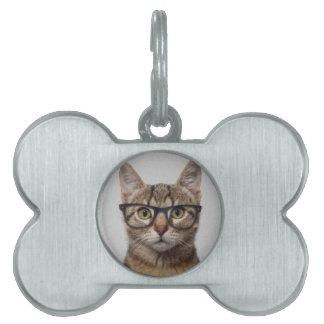 Geek Cat Pet Tag