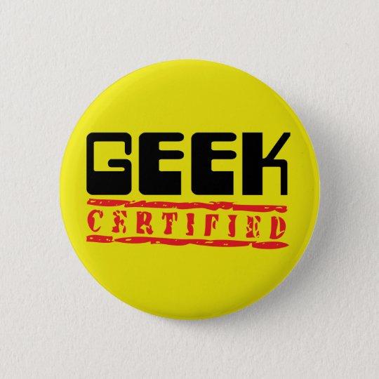 Geek certified pinback button