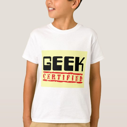 Geek certified yellow T-Shirt