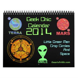 Geek Chic 2014 Calendar LGM Crop Circles Space Art
