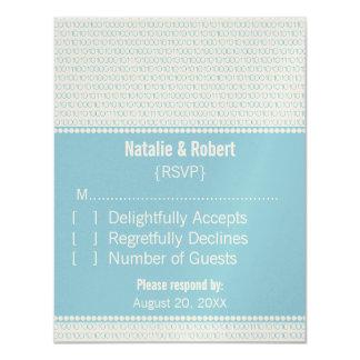 Geek Chic Binary Code Response Card, Blue Card