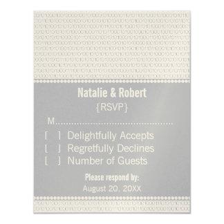 Geek Chic Binary Code Response Card, Gray Card