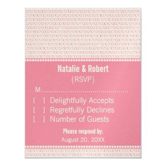 Geek Chic Binary Code Response Card, Pink Card