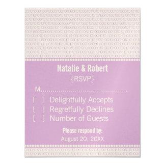 Geek Chic Binary Code Response Card, Purple Card