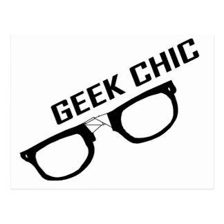 Geek Chic-Black Rimmed Glasses Postcard