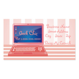 Geek Chic Computer Double-Sided Standard Business Cards (Pack Of 100)