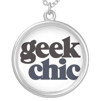 Geek Chic Round Pendant Necklace