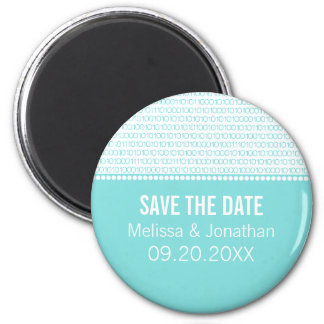 Geek Chic Save the Date Magnet, Aqua