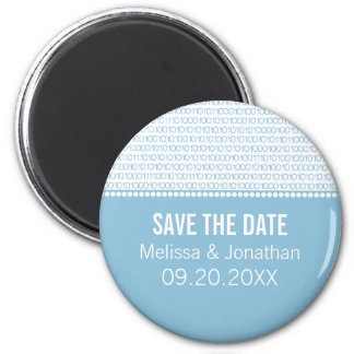 Geek Chic Save the Date Magnet, Blue