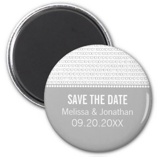 Geek Chic Save the Date Magnet, Gray