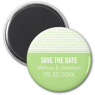Geek Chic Save the Date Magnet, Green