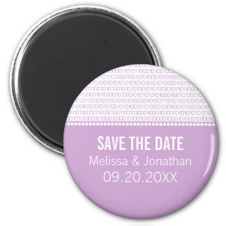 Geek Chic Save the Date Magnet, Lilac