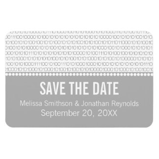 Geek Chic Save the Date Premium Magnet, Gray