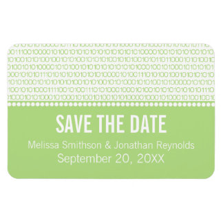 Geek Chic Save the Date Premium Magnet, Green