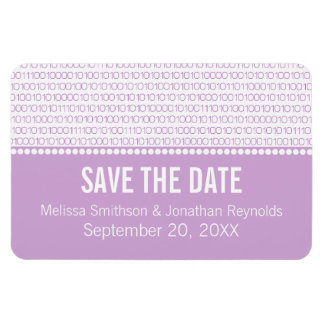 Geek Chic Save the Date Premium Magnet, Lilac