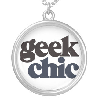 Geek Chic Silver Plated Necklace