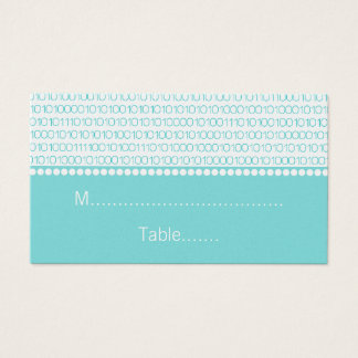 Geek Chic Wedding Place Cards, Aqua Business Card