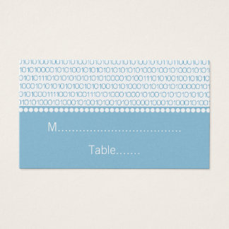 Geek Chic Wedding Place Cards, Blue Business Card