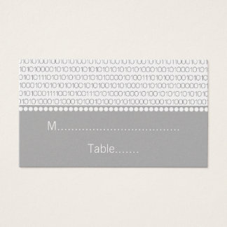 Geek Chic Wedding Place Cards, Gray Business Card
