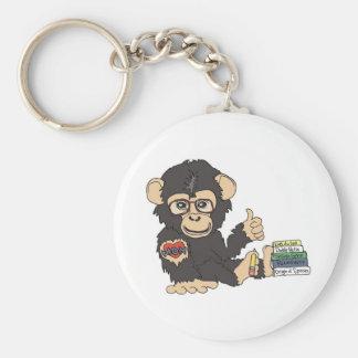 Geek Chimp Basic Round Button Keychain