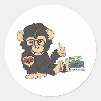 Geek Chimp Classic Round Sticker