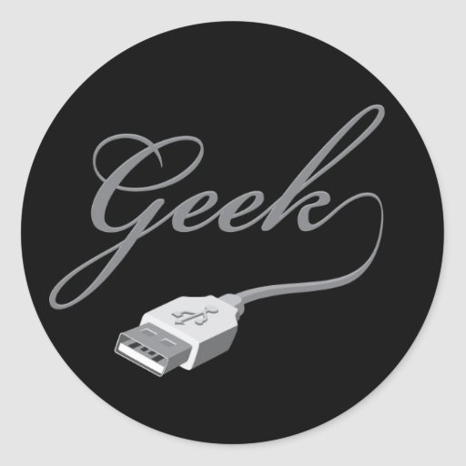 Geek Classic Round Sticker