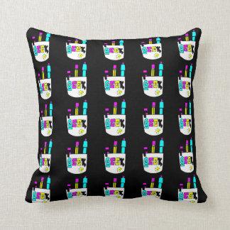 geek cmyk pocket protector design throw pillow