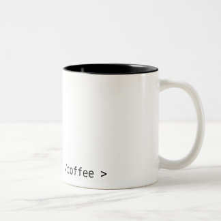 geek coffee Two-Tone coffee mug