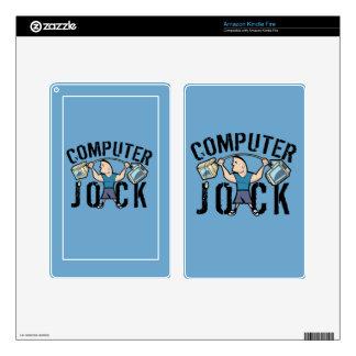 Geek Computer Jock Kindle Fire Decals