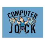 Geek Computer Jock Postcard