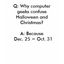 Geek Halloween and Christmas Confusion